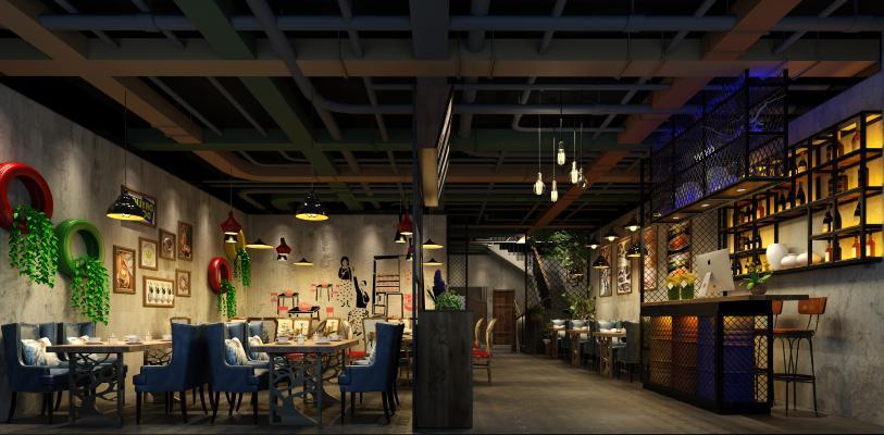 工业风酒店餐厅