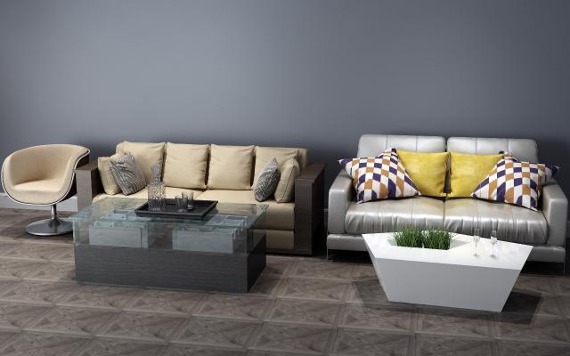 现代卡座 沙发