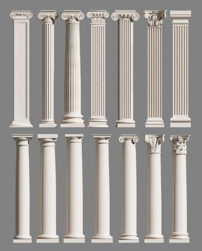欧式简约建筑构件 罗马柱