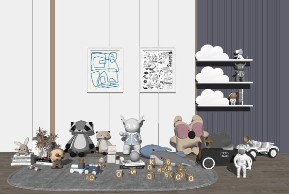 现代儿童玩具 玩偶 积木 玩具汽车
