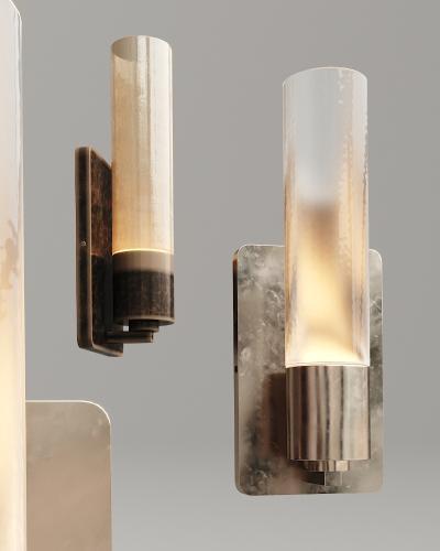 工业风金属玻璃壁灯