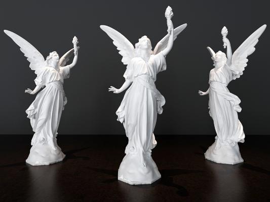 欧式简约天使摆件组合