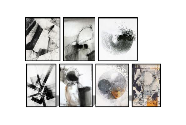 现代抽象饰画挂画
