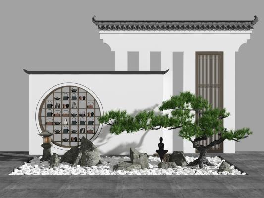 新中式山水景观园艺小品