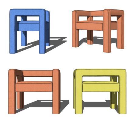 现代椅子矮凳