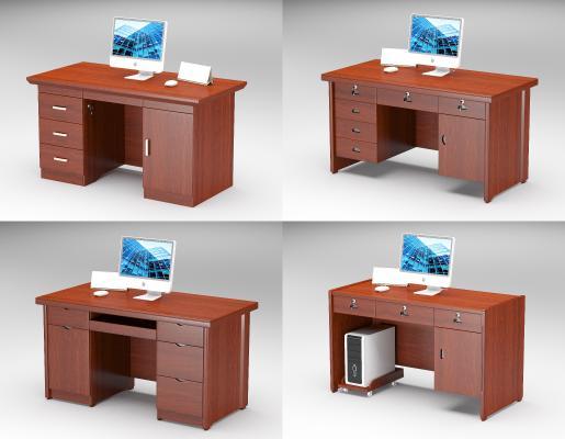 中式办公家具单人木质办公桌政府单位写字台