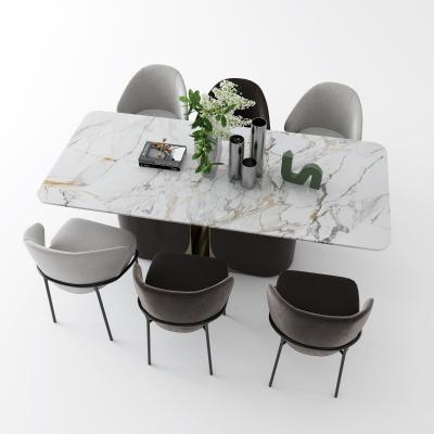 现代大理石餐桌椅