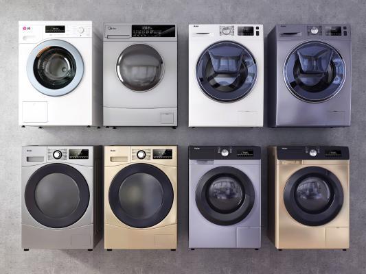 现代洗衣机 烘干机