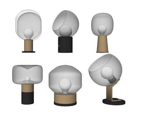 现代玻璃台灯