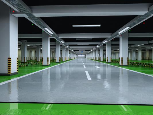 现代地下停车场