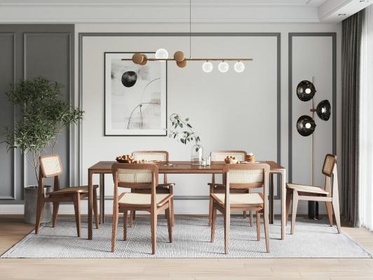 北欧餐厅 餐桌椅