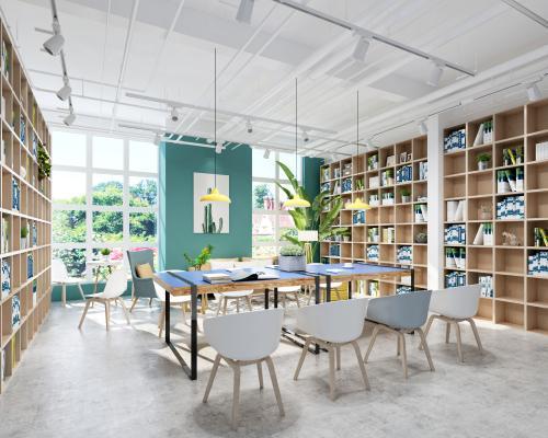 现代图书室 阅览室