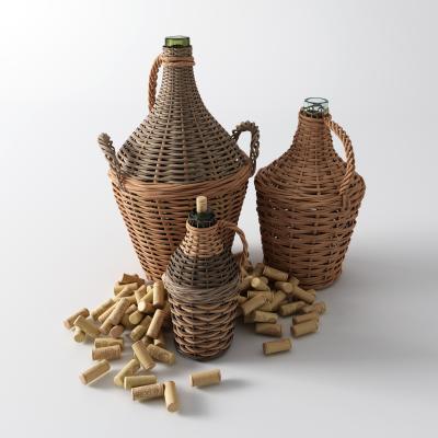 东南亚水瓶 水壶 藤编