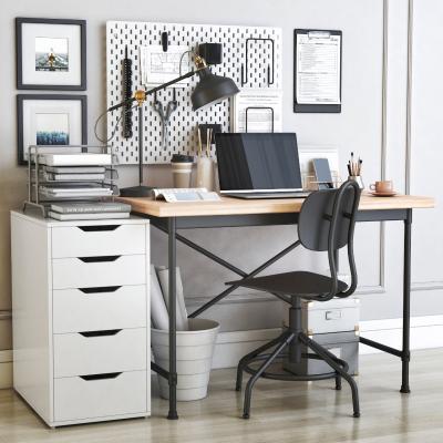 现代书桌椅组合 木板
