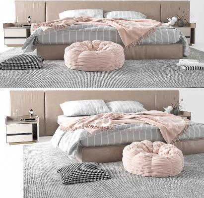 现代双人床