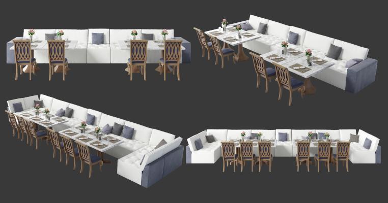 现代沙发茶几组合 沙发卡座 餐厅卡座