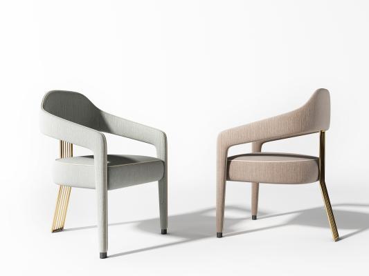 现代金属单椅组合