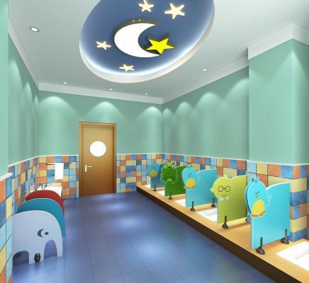现代风格幼儿园卫生间