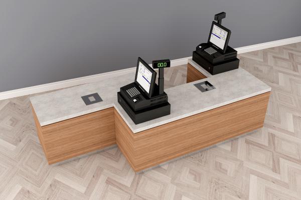 现代收银收款机