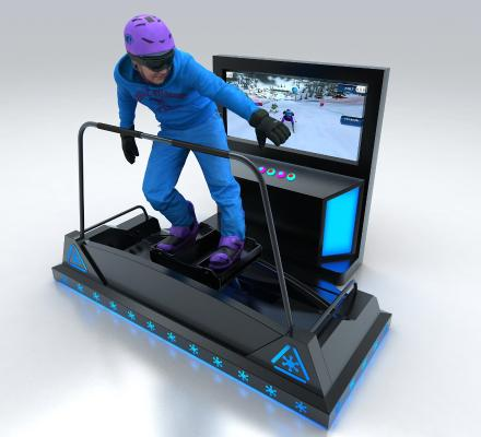 现代风格游乐设备 VR滑雪机