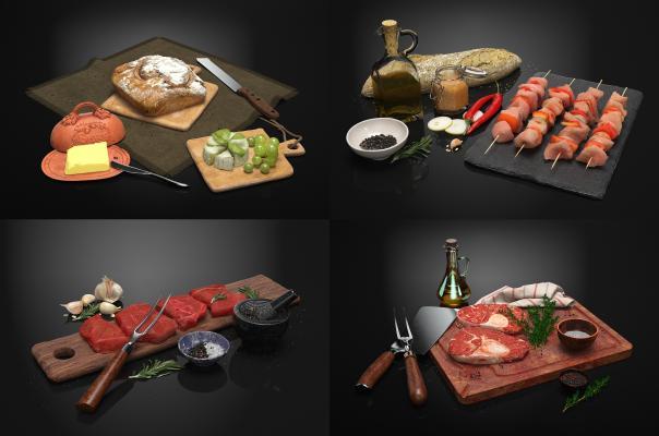 现代食物 食品 肉