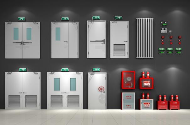 现代消防门消防设施