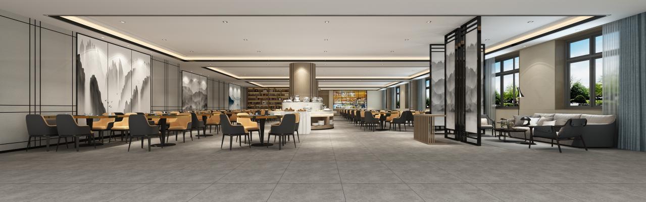 新中式酒店大堂 宴会厅