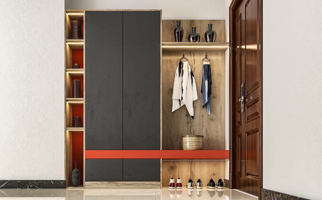 现代风格鞋柜