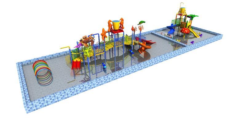 现代风格游乐设备 水上乐园