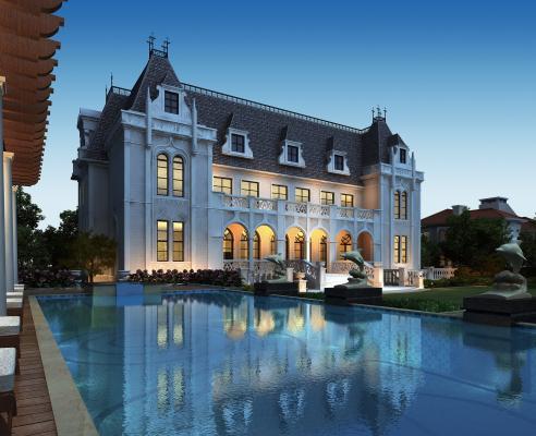 法式别墅 酒店 会所