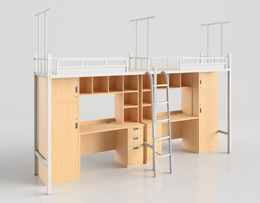 现代学生宿舍床 宿舍床 连体床