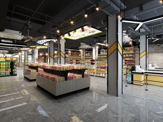 工业风超市 水果店
