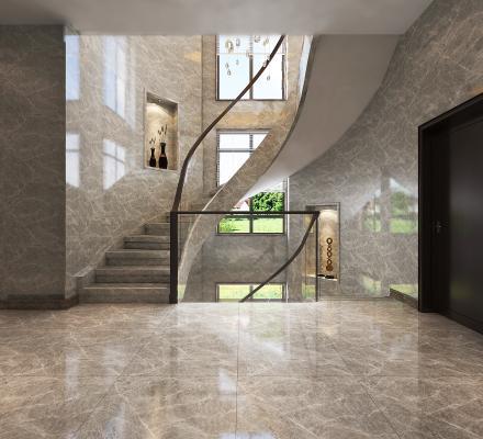 现代别墅楼梯间