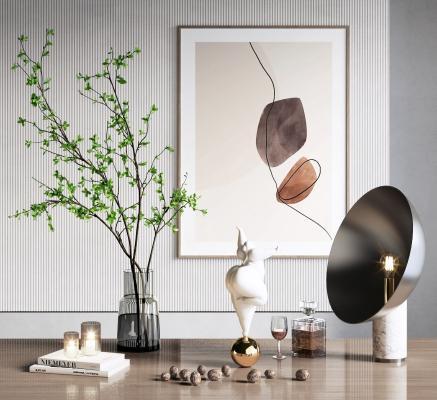 现代装饰摆件台灯组合
