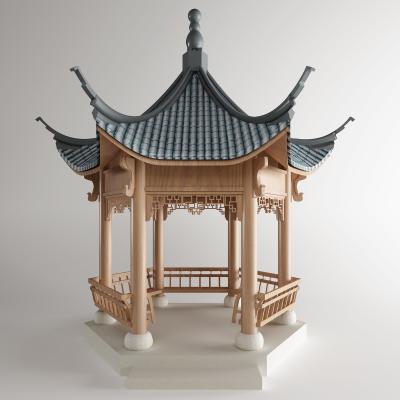新中式亭子
