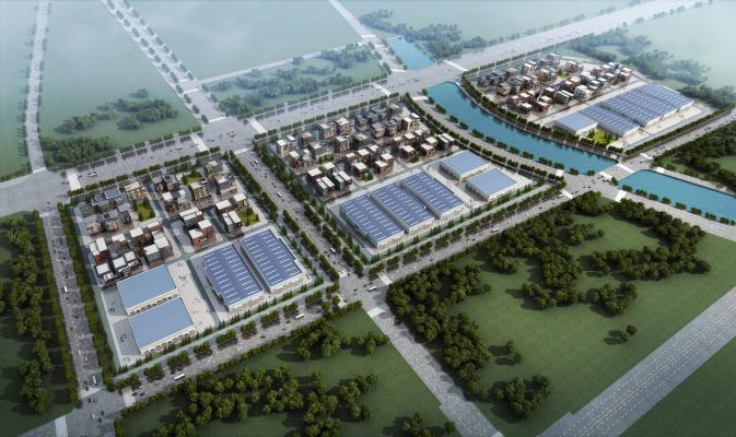 現代工业园 厂房厂区
