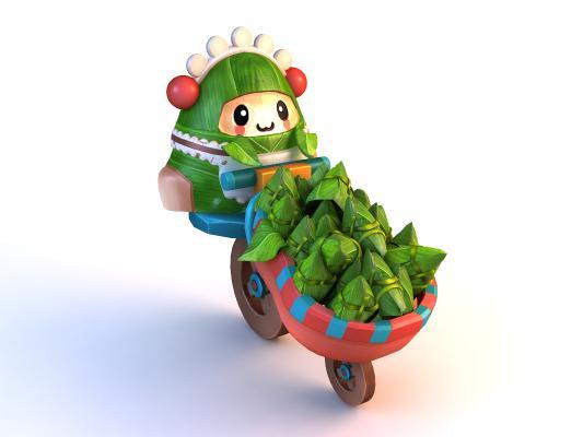 中式粽子 粽子玩偶