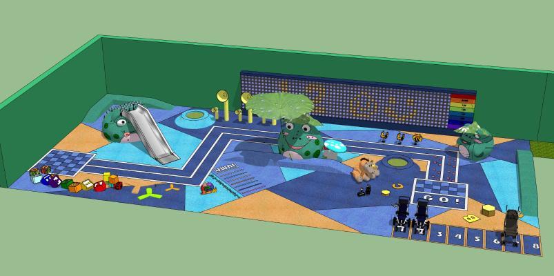 现代公园娱乐设施 儿童游乐场 儿童乐园