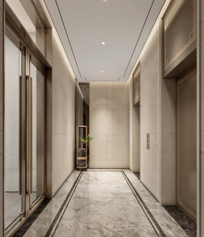 新中式电梯厅