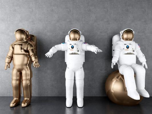 现代宇航员人物摆件