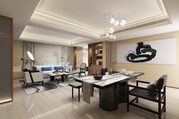 新中式 客厅书房