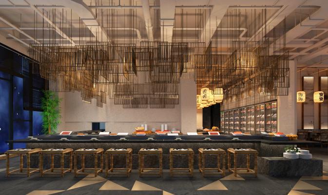 新中式火锅餐厅传菜区