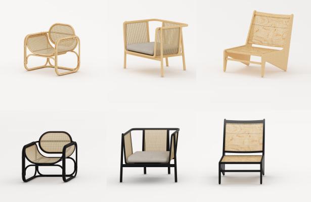 新�I 中式椅子 竹�椅子 �稳艘�