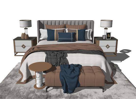 欧式轻奢床 床头柜