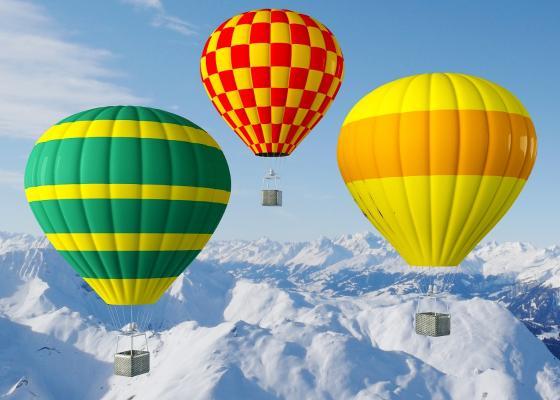 现代热气球 飞行器