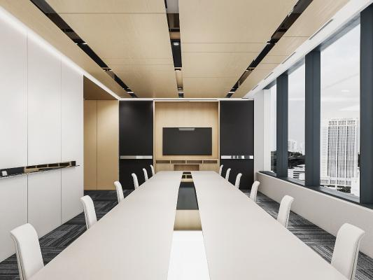 现代会议室 会议桌椅