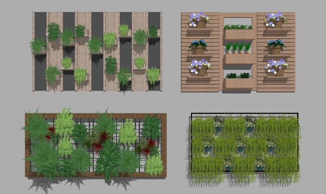 现代绿植墙 装饰墙