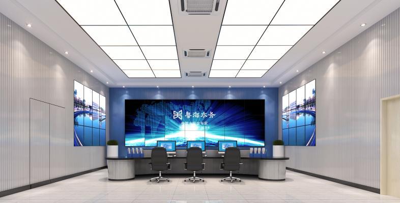 现代监控室 监控桌