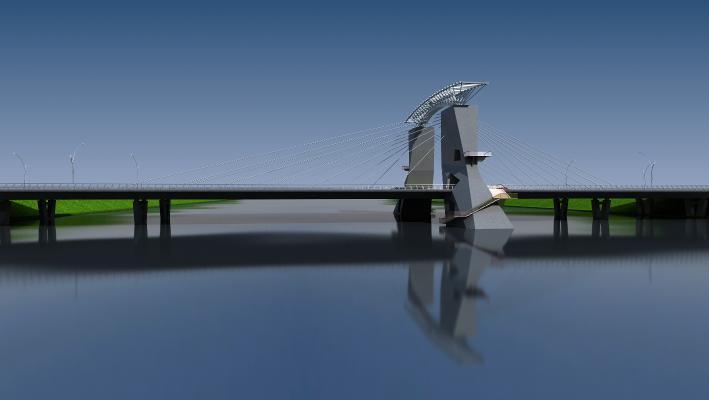 现代金属水泥桥梁