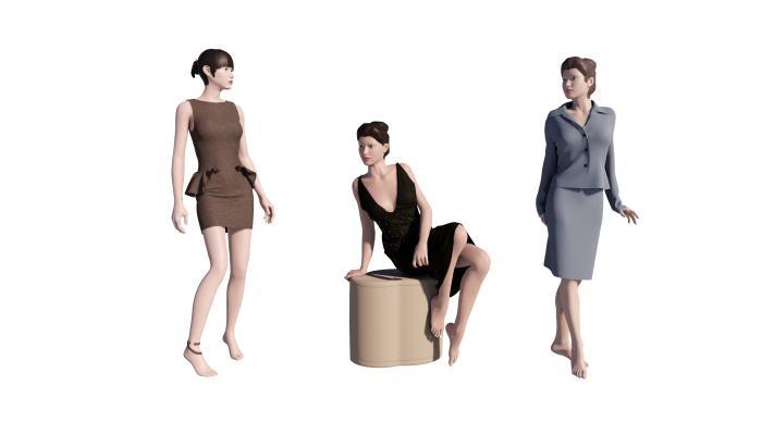 现代时尚女模特